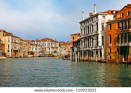 Morning image of the Canale Grande which is the main waterway in Venice,Italy. - stock photo