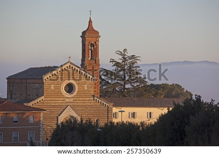 Morning in Montepulciano - stock photo