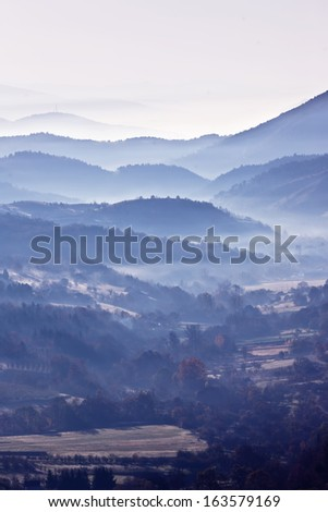 Morning in mountain - stock photo