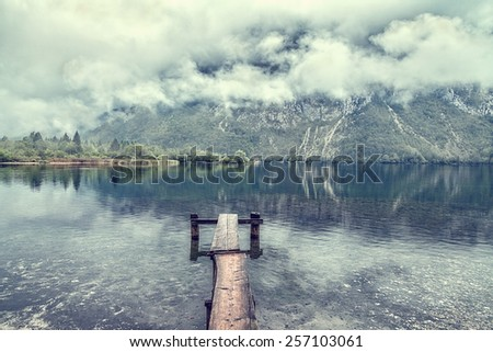 morning in the mountains - stock photo