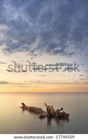 morning Lake Ontario - stock photo