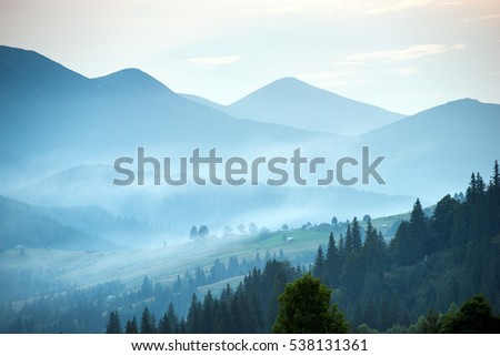 Morning landscape, Carpathians