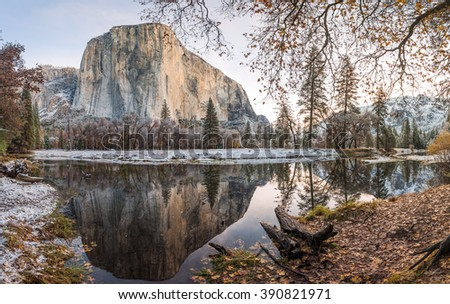 Morning light on El Capitan - Yosemite National Park - stock photo