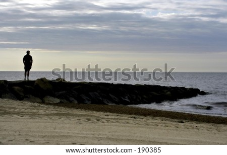 Morning on Cape Code, New England - stock photo