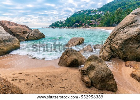 Morning on Coral Cove beach on Koh Samui in Thailand