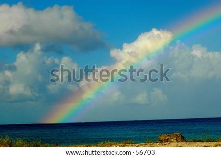 Morning Rainbow - stock photo
