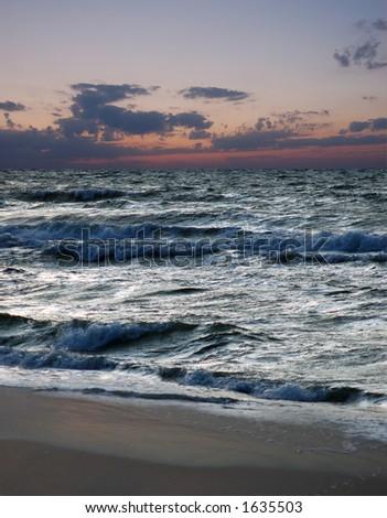 morning sea - stock photo