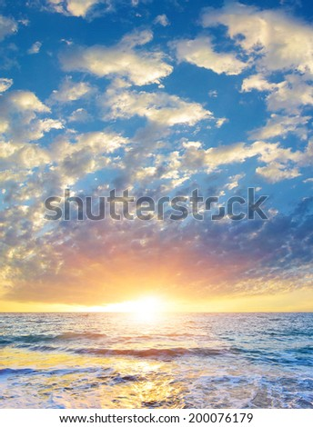Morning sea background