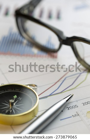 morning stock review ,shot with very shallow depth of field, - stock photo