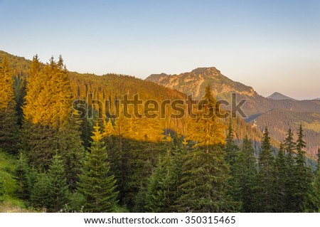 Morning Sun on Kominiarski Wierch in the Western Tatras