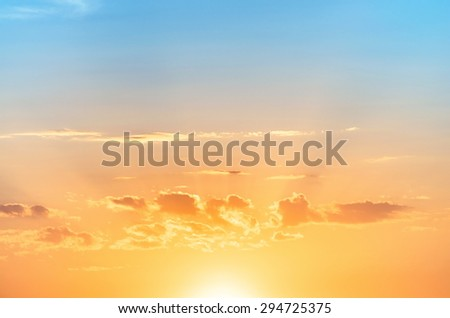 morning sunrise - stock photo