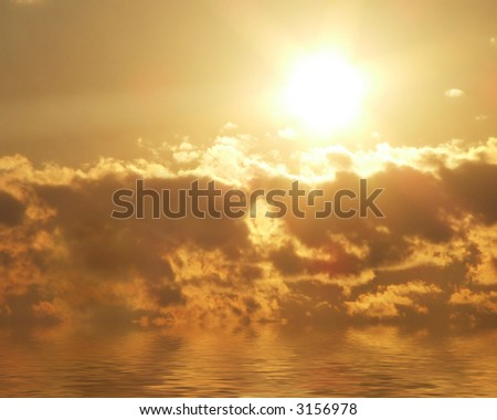 morning sunrise over water
