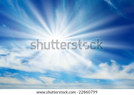 Morning sunshine. - stock photo