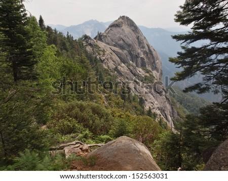 Moro Rock in Sequoia National Park - stock photo