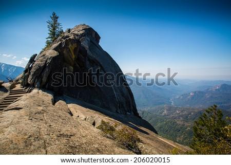 Moro Rock, Sequoia National Park - stock photo
