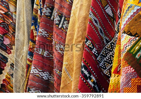 Moroccan carpet background - stock photo