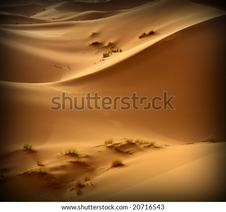 Moroccan desert dune background 02 - stock photo