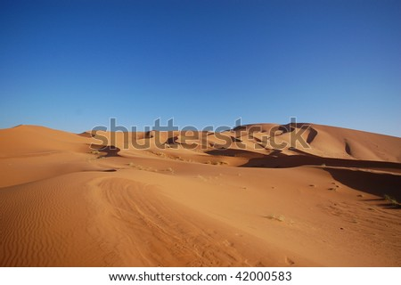 Moroccan desert dune background - stock photo
