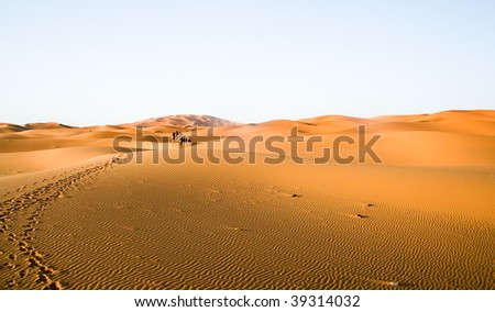 moroccan desert dunes landscape - stock photo