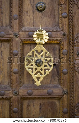 Moroccan doorway detail - stock photo