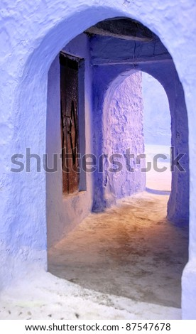 Moroccan doorway entrance - stock photo