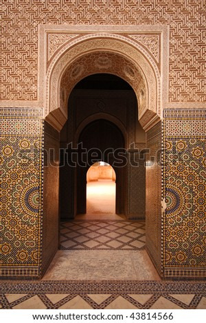 Moroccan entrance - stock photo