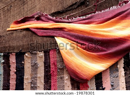 Moroccan fabric - stock photo