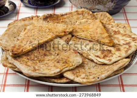 Moroccan filled Msemmen for ramadan - stock photo