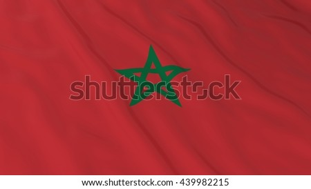 Moroccan Flag HD Background - Flag of Morocco 3D Illustration