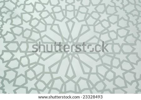 Moroccan Geometric Background - stock photo