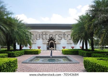 Moroccan Inner garden in Putrajaya, Malaysia - stock photo