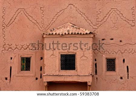 Moroccan Kasbah detail - stock photo