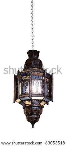 Moroccan lamp - stock photo