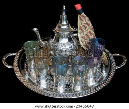 Moroccan Mint Tea Service with Arab Man cosy