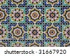 moroccan mosaic, in marrakesh - stock photo