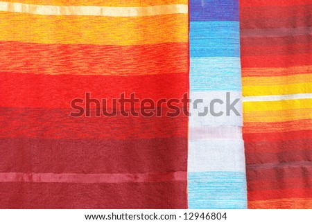 Moroccan Multi-colored Fabrics