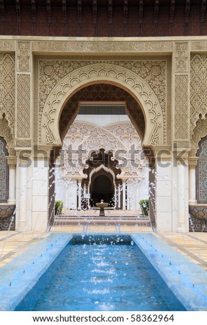 Moroccan pavilion in Malaysia - stock photo