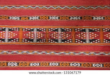 Moroccan rug - stock photo
