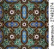 Moroccan seamless mosaic - stock photo