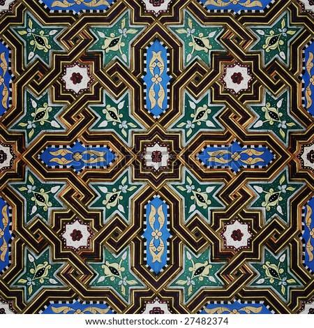 Moroccan seamless mosaic - stock photo