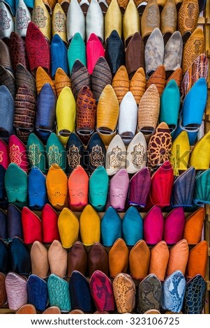 moroccan slippers - stock photo