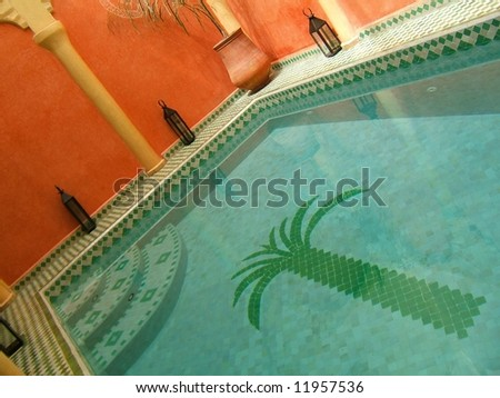 Moroccan swimming pool