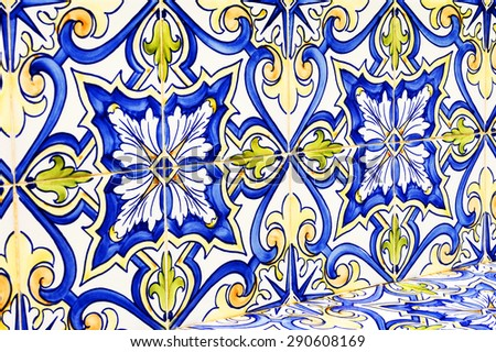 Moroccan tiles background