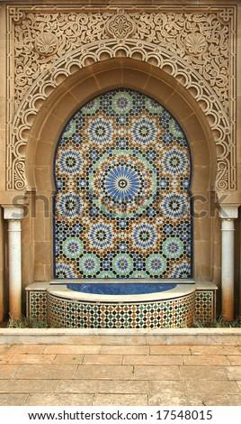 Moroccan traditional ornament, Rabat - stock photo
