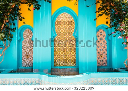 Morocco architecture style - vintage filter effect - stock photo