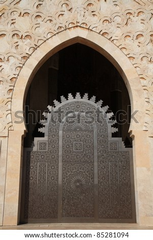 Morocco door - stock photo