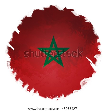 Morocco flag, Circle Digital Panting background
