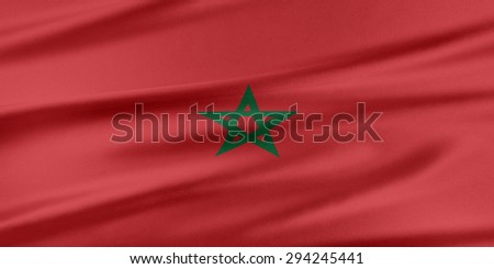 Morocco Flag. Flag with a beautiful glossy silk texture.