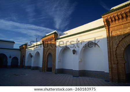 Morocco. Jamee lakbire Medersa in the medina of Sale