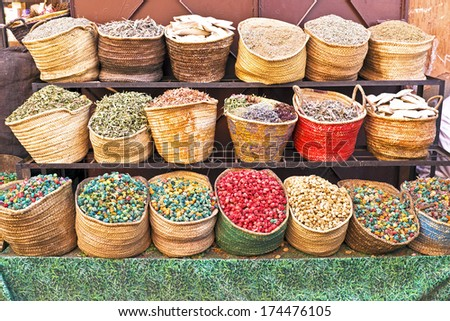 Morocco Traditional Market - stock photo